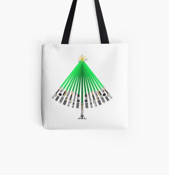 LightSaber Christmas Tree All Over Print Tote Bag
