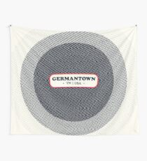Germantown   Retro Badge Wall Tapestry
