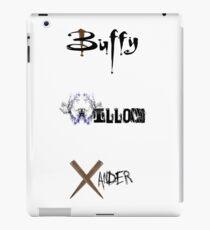 Buffy, Willow, Xander iPad Case/Skin