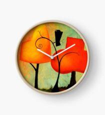 Crow & Autumn Trees Clock