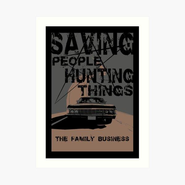 supernatural:saving people hunting things Art Print