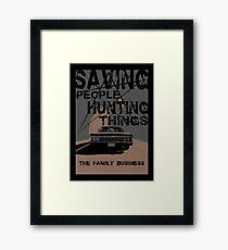 supernatural:saving people hunting things Framed Print