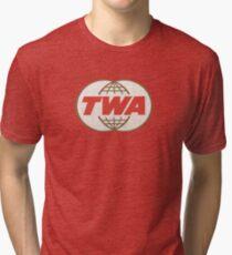 TWA Trans World Airlines USA Tri-blend T-Shirt