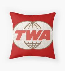 TWA Trans World Airlines USA Throw Pillow