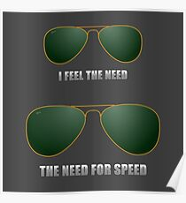 I feel the need. The need for speed. Poster