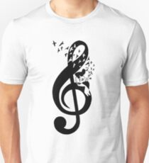Treble Clef - guitar Unisex T-Shirt