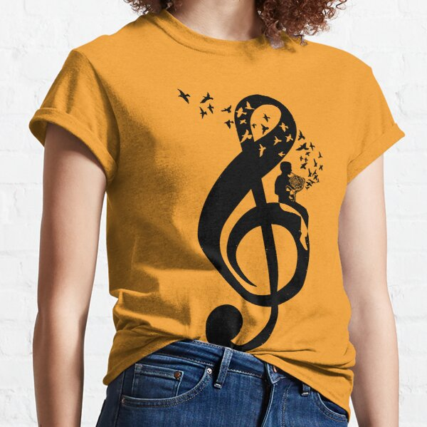 Treble Clef - French Horn Classic T-Shirt