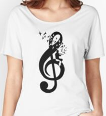 Treble Clef - Flute Women's Relaxed Fit T-Shirt