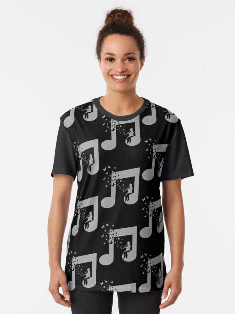 Alternate view of Clarinet - Music Graphic T-Shirt