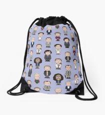 Repeating Sherlock and Friends Drawstring Bag