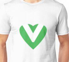 Green Vegan Heart Unisex T-Shirt