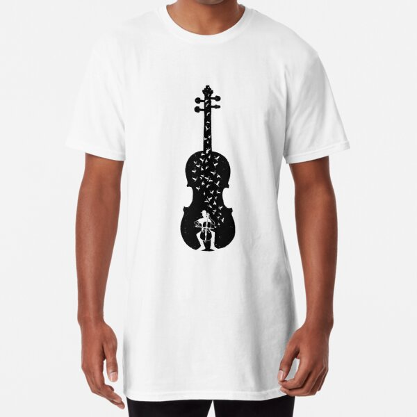 Cello - Playing Cello Long T-Shirt
