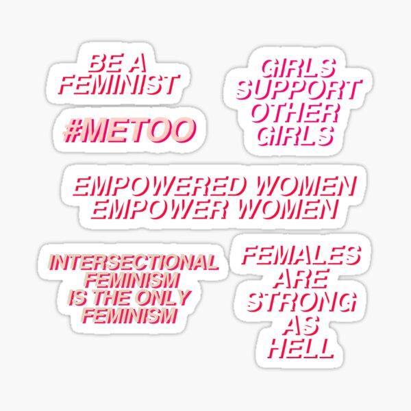Feminist Quotes Set Sticker