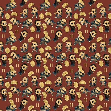 Eleven Eggo stranger things pattern red by Pepooni