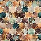 Natural Hexagon And Diamonds by Elisabeth Fredriksson