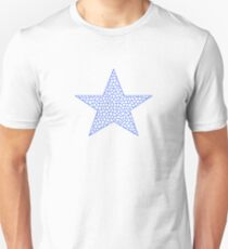 Star - geometric pattern - blue and white. T-Shirt