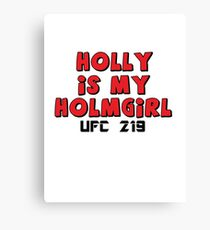 Holly Holm UFC 219 Canvas Print