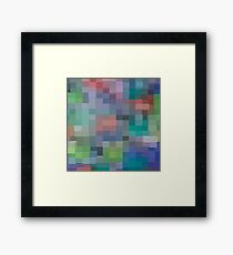 Abstract pixel pattern Framed Print