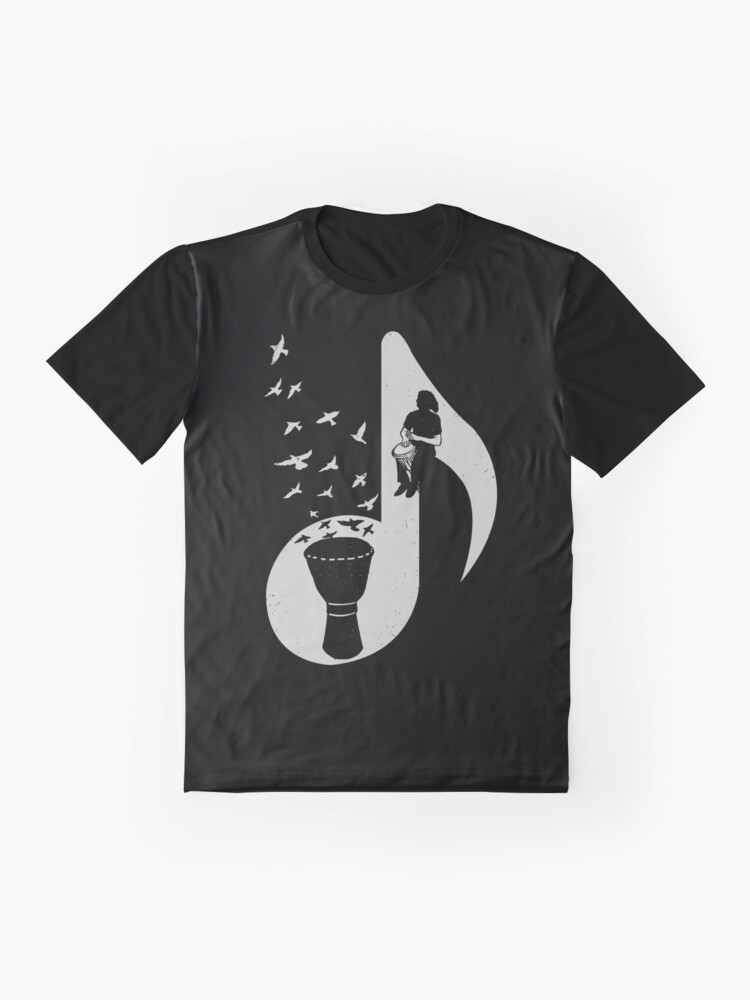 Alternate view of Musical note - Djembe Graphic T-Shirt