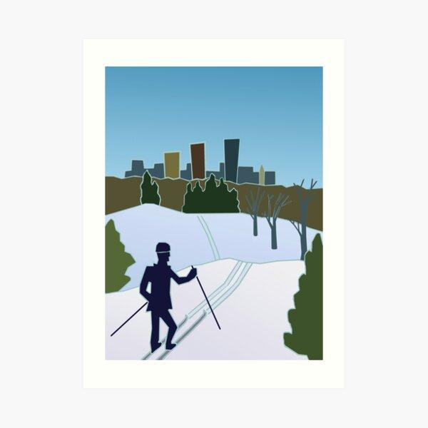 MN Trails Winter 2017  Art Print