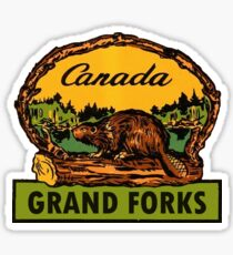 Grand Forks BC Canada Vintage Travel Decal Sticker