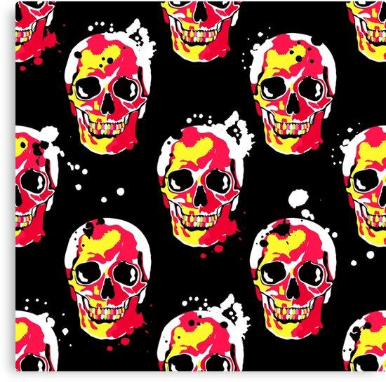 fire skull by InnaQueen