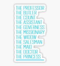 Murder on The Orient Express - Character List 2017 Sticker