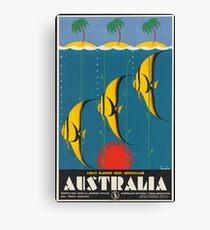 Vintage Travel Poster - Great Barrier Reef, Australia Canvas Print