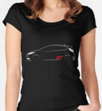 Ford Fiesta ST Vector Women's Fitted Scoop T-Shirt