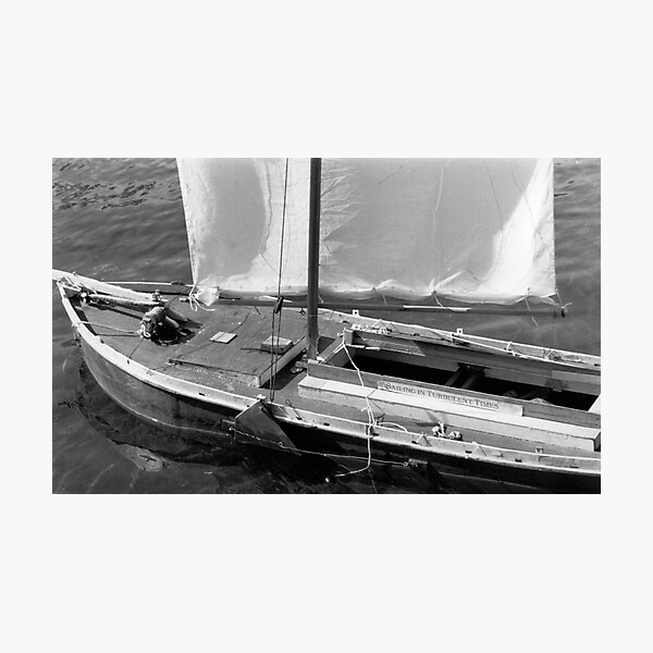 Sailing in Turbulent Times  Photographic Print