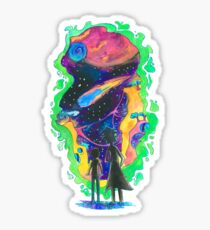 Rick and morty abstract Sticker