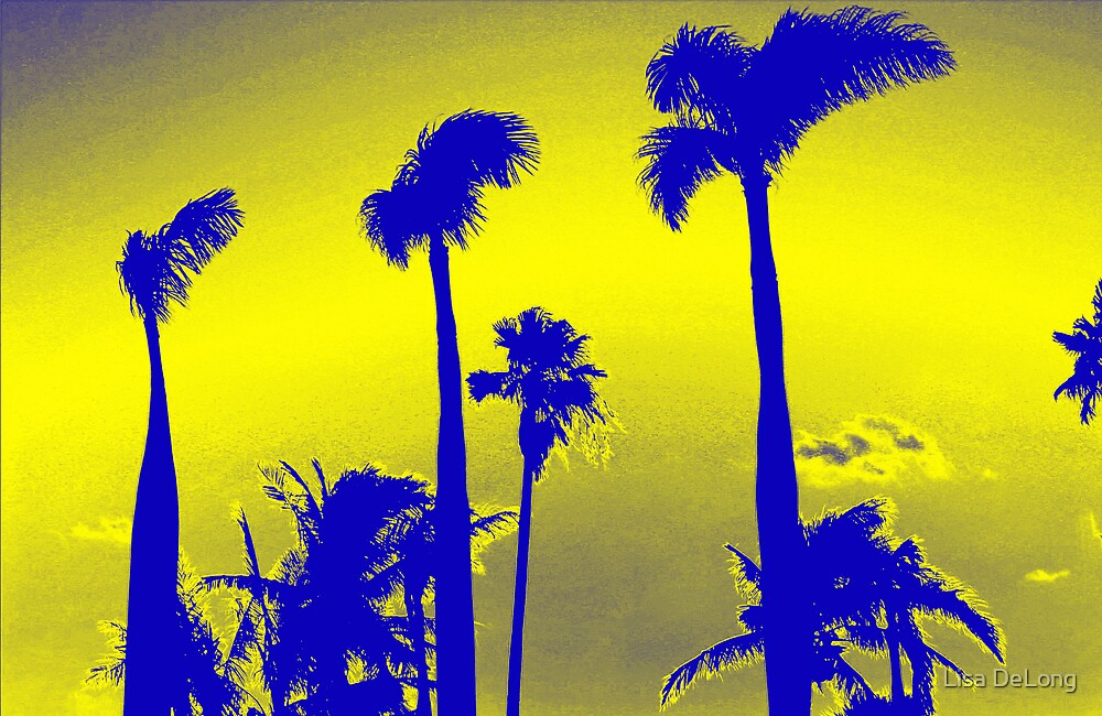 Yellow Palm Trees by Lisa DeLong