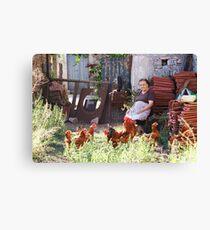 Greek Farm Canvas Print