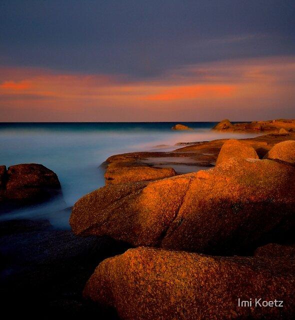Sunset at Jeaneret Beach.....Tasmania by Imi Koetz