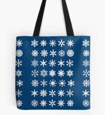 Snowflakes Bolsa de tela