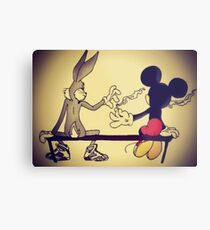 MICKEY BUNNY SMOKING  Metal Print