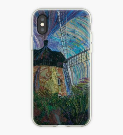 Flour Power - Windmill Embroidery - Textile Art iPhone Case