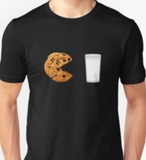 Pac-Man Funny Cookie and Milk Design T-Shirt