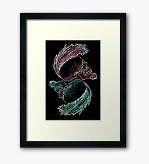 Serie 3/4 Nº 26 HARD ROCK Framed Print