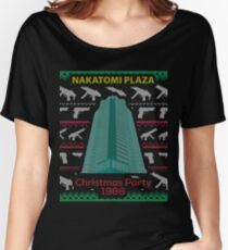 Nakatomi Plaza - Funny Ugly Christmas Sweater Women's Relaxed Fit T-Shirt