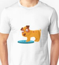 Curious Puppy Stepping On Trapdoor T-Shirt
