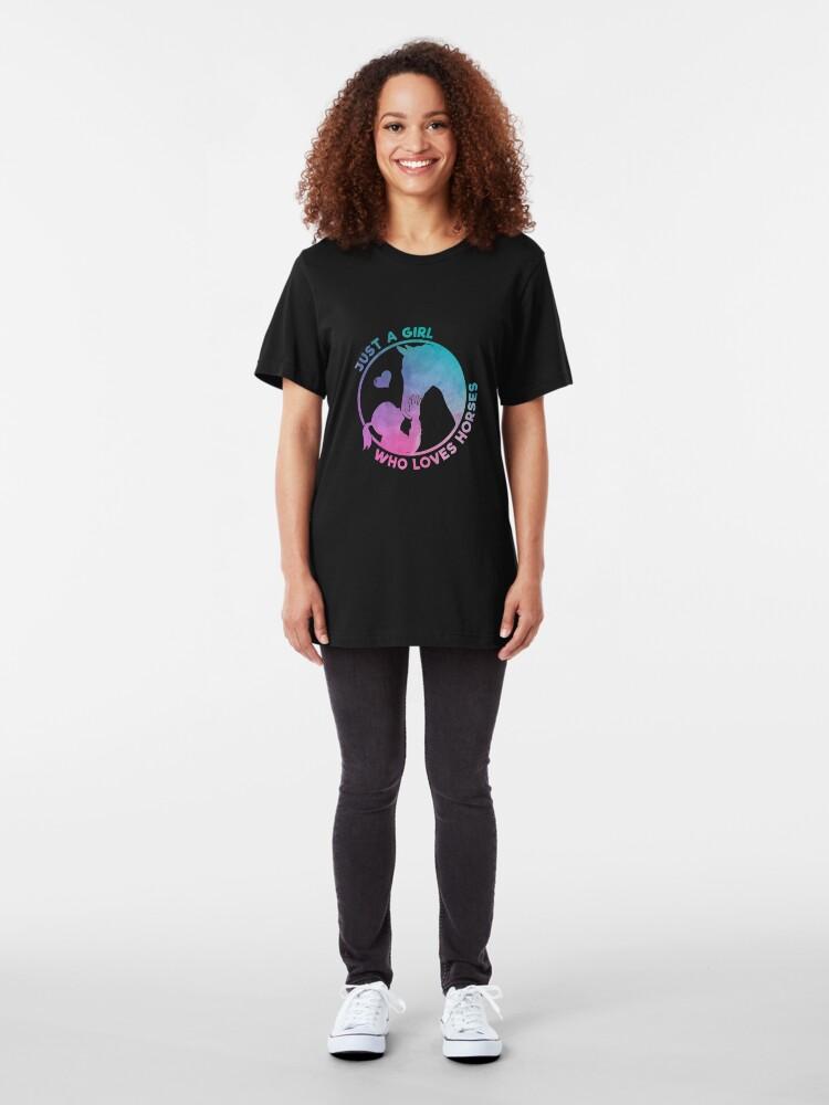 Alternative Ansicht von Equestrian Women Girls Love Their Horses Gift Slim Fit T-Shirt