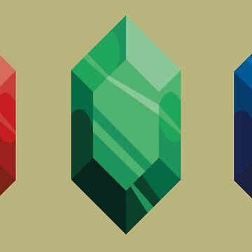 Rupee gems by Nintendart