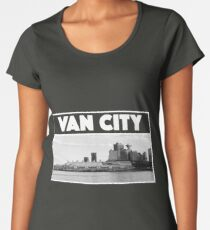 Vancouver in White and Black (Van City) Women's Premium T-Shirt