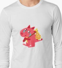 Red Dragon Leaving WIth Sack On Stick Illustration T-Shirt