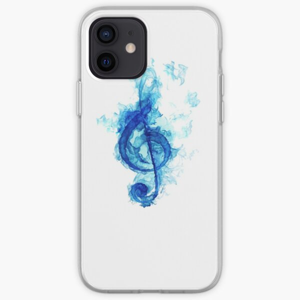blue flaming note iPhone Soft Case