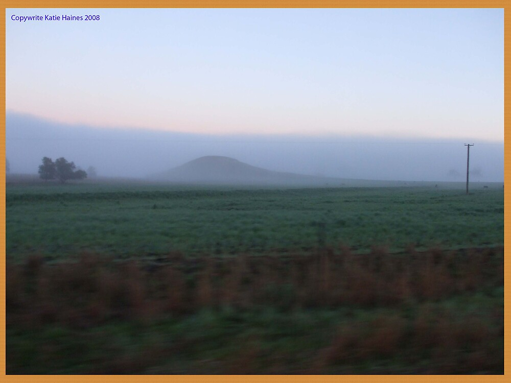 Hill in fog by SparrasGirl1