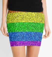 LGBT-Flagge leuchtender Regenbogenfunkeln funkelt Minirock