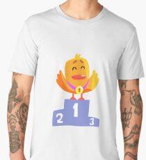 Duckling Champion Cute Character Sticker Men's Premium T-Shirt