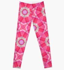 Pink Kaleidoscope Seamless Pattern Leggings